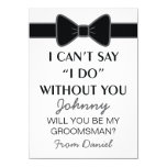 Will You Be My Groomsman Black Bow Tie