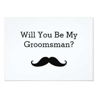 Will you be my groomsmen invitations announcements zazzle will you be my groomsman black mustache card junglespirit Images