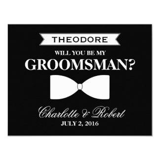 Will you be my Groomsman?   Groomsman 11 Cm X 14 Cm Invitation Card