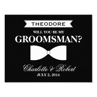 Will you be my groomsman cards invitations zazzle will you be my groomsman groomsman card junglespirit Image collections