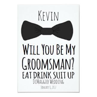 will you be my groomsman? Groomsmen Wedding Invite