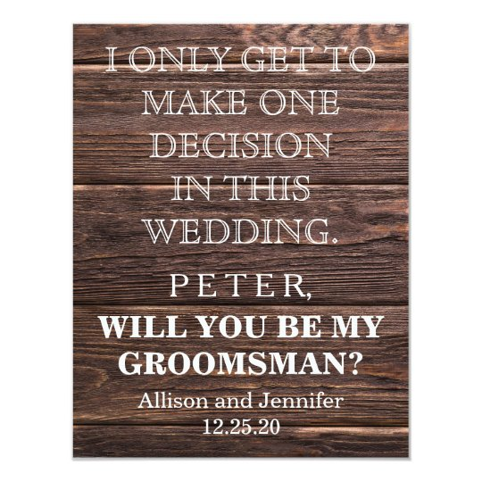 Will you be my Groomsman? Personalised Card