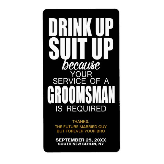 Will you be my groomsman wine label beer label zazzle will you be my groomsman wine label beer label junglespirit Images