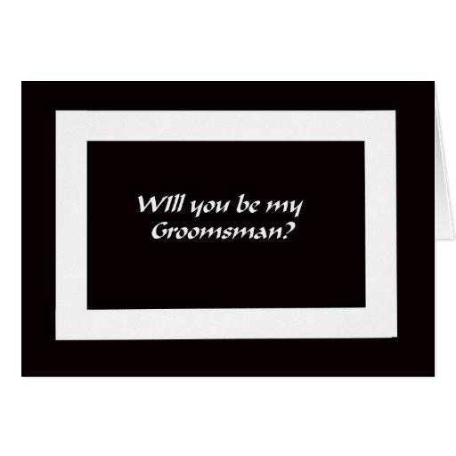 Will You Be My Groomsmen? Card