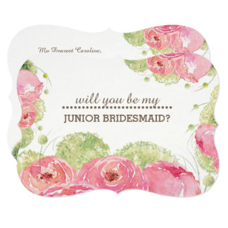 Will you be my Jr. Bridesmaid? Custom Invitations