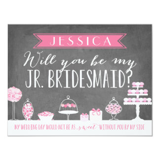 Will You Be My Junior Bridesmaid | Bridesmaid 11 Cm X 14 Cm Invitation Card