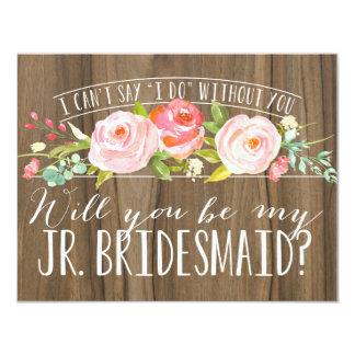 Will You Be My Junior Bridesmaid | Bridesmaid 11 Cm X 14 Cm Invitation Card
