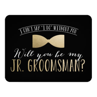 Will you be my Junior Groomsman ? | Groomsmen Card