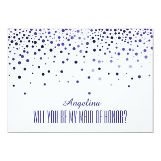 Will you be my MAID OF HONOR? 13 Cm X 18 Cm Invitation Card
