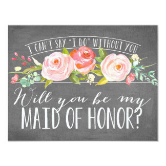 Will You Be My Maid of Honor   Bridesmaid 11 Cm X 14 Cm Invitation Card