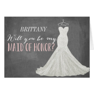 Will You Be My Maid Of Honor | Bridesmaid Note Card