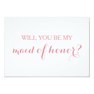 Will You Be My Maid of Honor Card Bridal Party