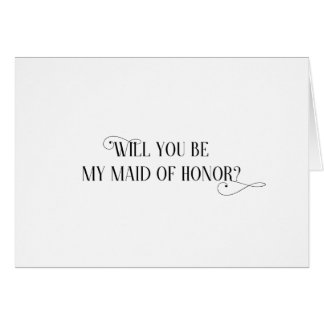 Will You Be My Maid of Honor Card - folded