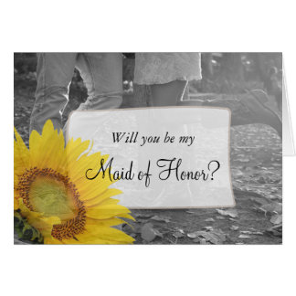 Will you be my Maid of Honor Country Western Card