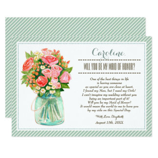 Will you be my Maid of Honor? Custom Invitation