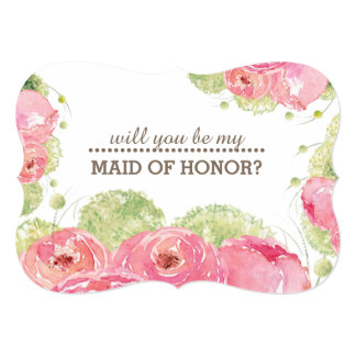 Will you be my Maid of Honor? Custom Invitations
