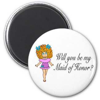 Will You Be My Maid Of Honor Girl Fridge Magnets