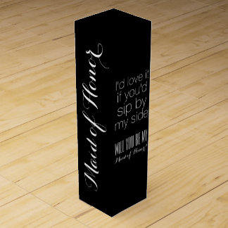 Will you be my maid of honor matron gift box wine boxes