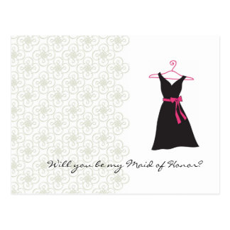 Will You be my Maid of Honor? Postcard