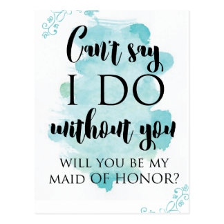 Will you be my maid of honor question card