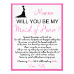 Will you be my Maid of Honour? Card Invitation