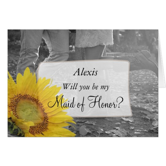 Will you be my Maid of Honour Country Western Card