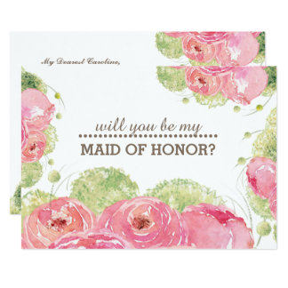 Will you be my Maid of Honour? Custom Invitations