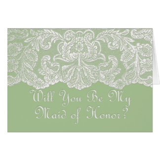 will you be my maid of honour greeting card