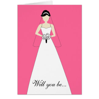 Will You Be My Maid of Honour? Hot Pink Card