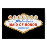 Will You Be My Maid of Honour Las Vegas Sign Card