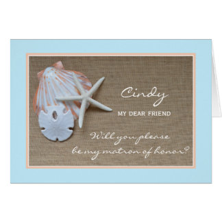 Will You Be My Matron of Honor Card Beach