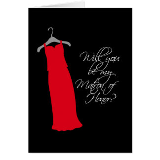 """""""Will you be my Matron of Honor?"""" Greeting Card"""