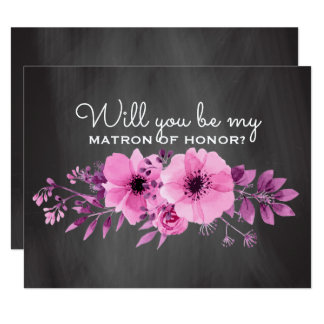 Will You Be My Matron of Honor | Maid of Honor Card