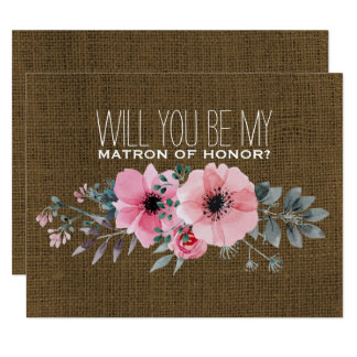 Will You Be My Matron of Honor | Matron of Honor Card