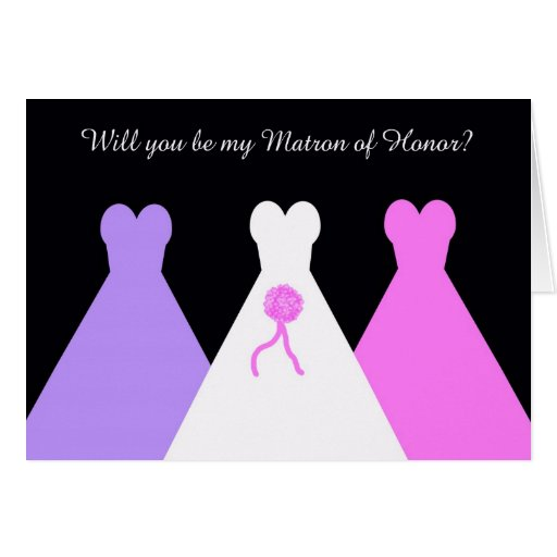 Will You Be My Matron of Honor Poem Card