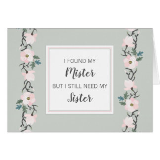 Will you be my Matron of Honor sage blush pink Card