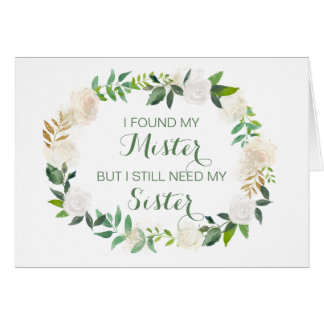 Will you be my Matron of Honor white floral Card