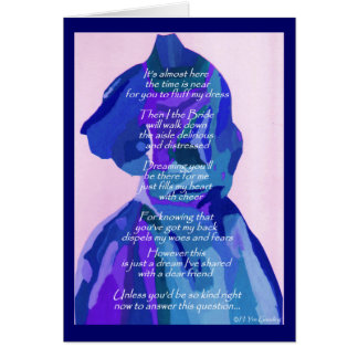 """""""Will You Be My Matron Of Honor"""" Winter II Card Greeting Cards"""