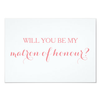 Will You Be My Matron of Honour Card Bridal Party 9 Cm X 13 Cm Invitation Card