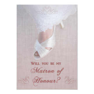 Will You Be My Matron of Honour? Pretty in Pink! Card