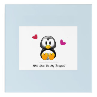 Will You Be My Penguin Acrylic Wall Art
