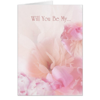 Will You Be My ... Peonies Invitation Note Card