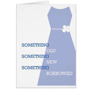 Will You Be My Something Blue? Wedding Card