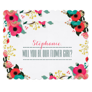 Will you be our Flower Girl? Custom Invitations