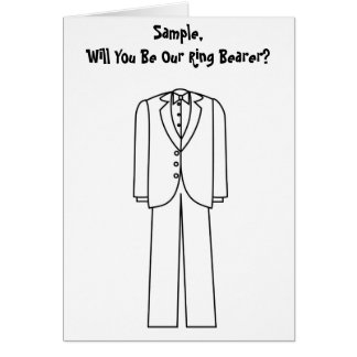 Will You Be Our Ring Bearer Card