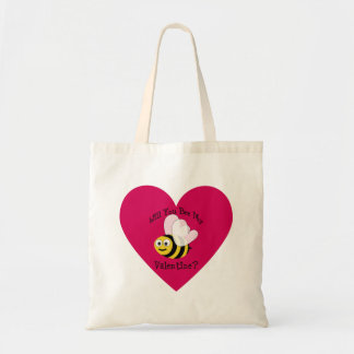 Will You Bee Mine? Red Heart Budget Tote Bag