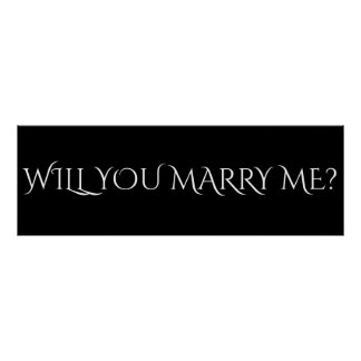 "WILL YOU MARRY ME? - 36""x12"" Banner Poster"