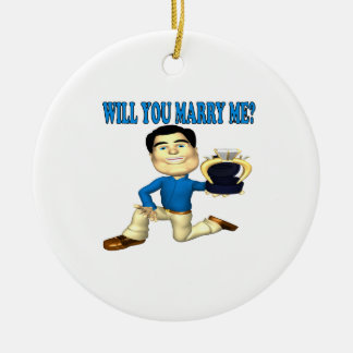 Will You Marry Me 3 Ceramic Ornament