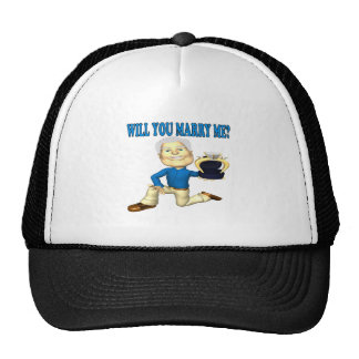 Will You Marry Me 5 Mesh Hat