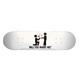 Will You Marry Me Bended Knee Man & Man 21.6 Cm Old School Skateboard Deck